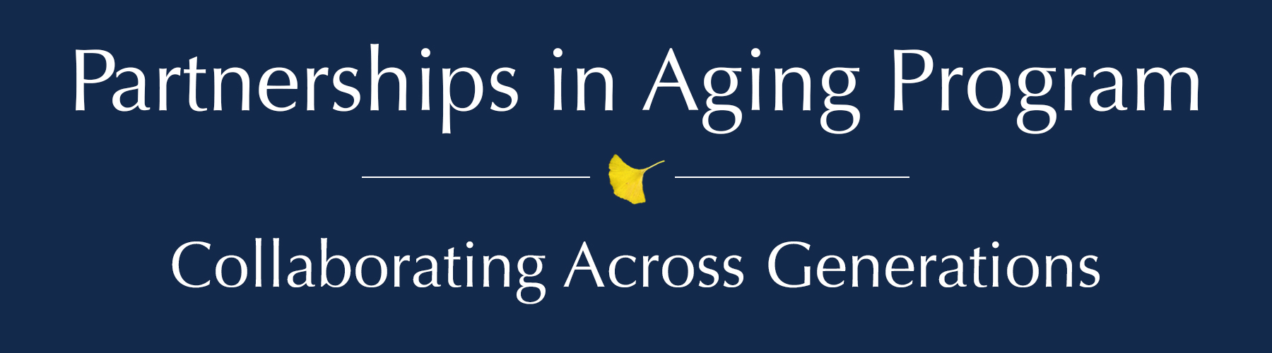 Partnerships in Aging Program